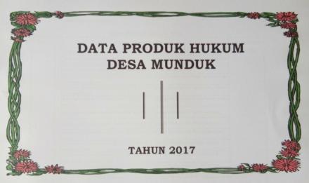 DATA PRODUK HUKUM TAHUN 2017
