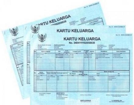 Pembuatan KK Baru wajib melampirkan Golongan Darah dan copy Akta Perkawinan